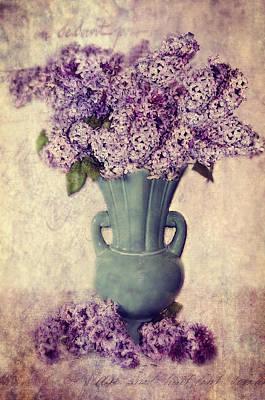 Daddy's Lilacs Series Vi Art Print by Kathy Jennings