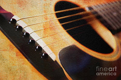 Photograph - Daddys Rockin Guitar by Andee Design