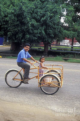 Photograph - Dad's Bicycle Taxi Service Mexico  by John  Mitchell
