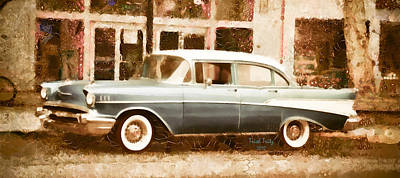 Photograph - Dad's Old Car by Trish Tritz