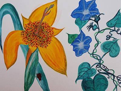 Daffyclem Art Print by Joy Sparks
