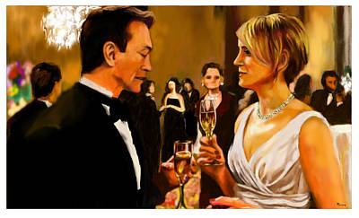 Digital Art - Dagny And Hank Rearden At Lilian's Party by Parag Pendharkar