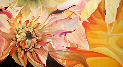 Painting - Dahlia Goddess by Karen Hurst