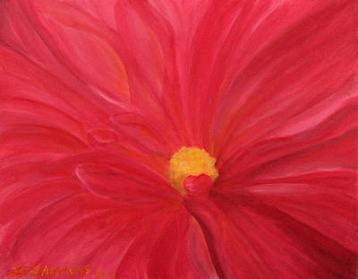 Dahlia Macro Art Print by Janet Greer Sammons