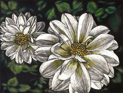 Painting - Dahlias by Robert Goudreau