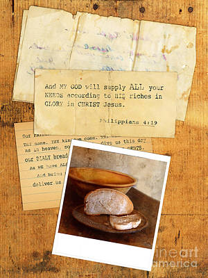 Photograph - Daily Bread Photo And Verse by Jill Battaglia