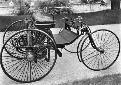 Photograph - Daimler Automobile, 1889 by Granger