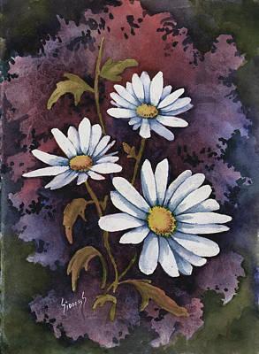 Painting - Daisies IIi by Sam Sidders