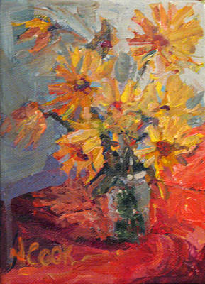 Painting - Daisies In October by Nanci Cook