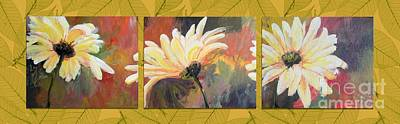 Daisies Three Art Print by Susan Fisher