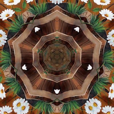 Digital Art - Daisy Bucket by Kathy Sheeran
