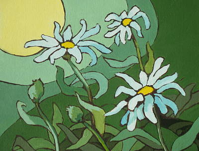 Painting - Daisy Dance by Sandy Tracey