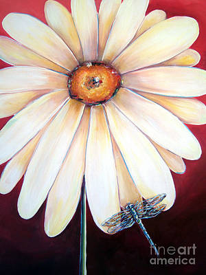 Painting - Daisy Dragonfly by Deb Broughton
