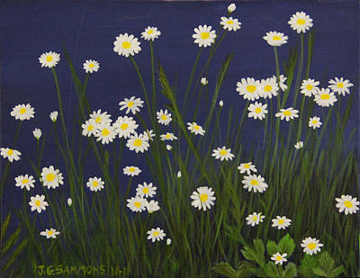 Daisy Field Art Print by Janet Greer Sammons