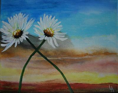 Painting - Daisy Mates by Leslie Allen