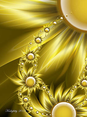 Digital Art - Daisy Sunshine by Karla White