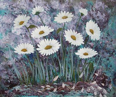 Painting - Daisy Time by Kathy Sheeran