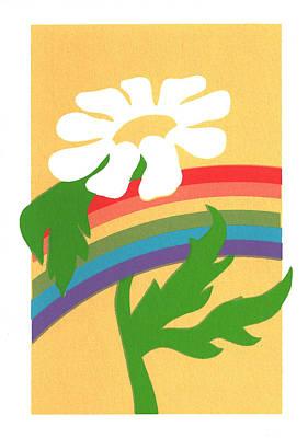 Daisy's Rainbow Art Print by Terry Taylor