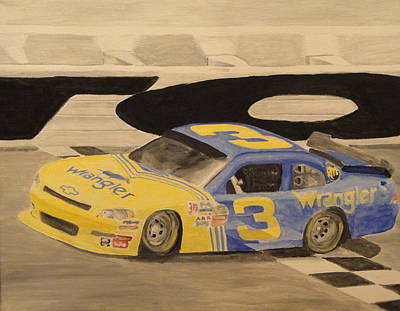 Dale Earnhardt Painting - Dale Jr In The 3 by James Lopez