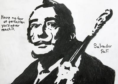 Drawing - Dali by April Harker