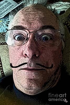 Self-portrait Digital Art - Dali Ronnie by Ron Bissett