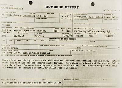 Lyndon Photograph - Dallas Police Department Homicide by Everett