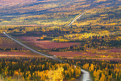 Dalton Highway Photograph - Dalton Highway In Autumn Season by Annia