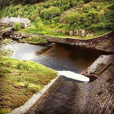 Sheep Photograph - Dam At Elan Valley. #valley #dam by Amy Ho