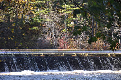 Photograph - Dam In Autumn by Healing Woman