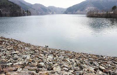 Dam Lake Art Print by Sot