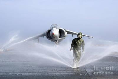 Rain Gear Photograph - Damage Controlman Fireman Checks by Stocktrek Images