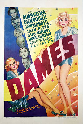 Dames, Ruby Keeler, Dick Powell, Joan Art Print by Everett