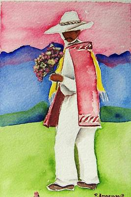 Damien Art Print by Regina Ammerman