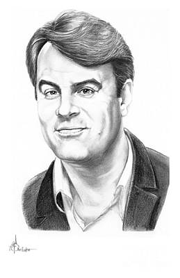 Famous People Drawing - Dan Akyroyd by Murphy Elliott
