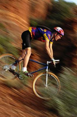 Dan Diez Mountain Biking Near Sedona Art Print