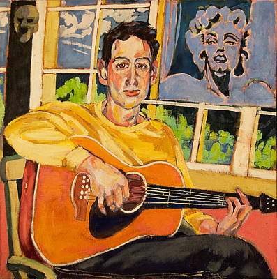 Painting - Dan With Guitar And Marilyn by Doris  Lane Grey