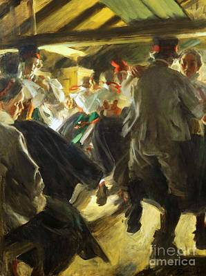 Dance In Gopsmor Art Print by Pg Reproductions