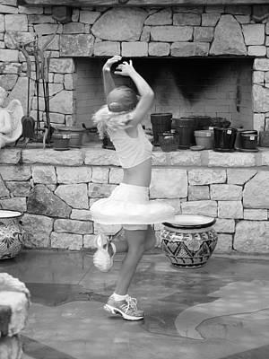 Dance Like Nobody Is Watching Bw Art Print by Elizabeth Sullivan