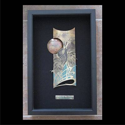 Mixed Media - Dance Of The Cranes Framed by Brenda Berdnik