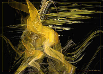 Digital Art - Dance Of Waves by Sipo Liimatainen