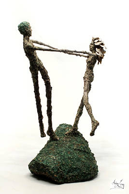 Couple Mixed Media - Dance On A Hill Top by Adam Long