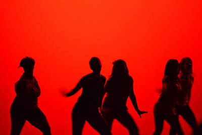 Photograph - Dance Silhouette Group by Matt Hanson