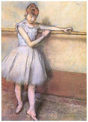 Dancer At The Bar Art Print by Edgar Degas