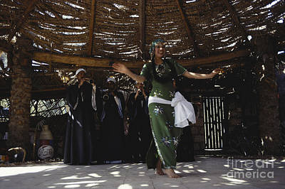African Traditional Dances Photograph - Dancer In Restaurant, Giza, Egypt by Bernard Wolff