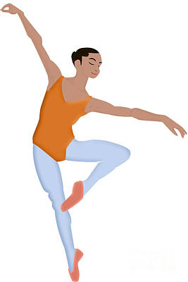 Dancer Art Print by Melissa Stinson-Borg