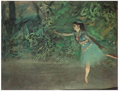 Dancer On The Stage Art Print by Edgar Degas
