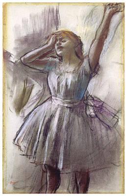 Dancer Stretching Art Print by Edgar Degas
