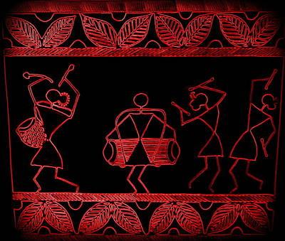 Tarpa Dance Painting - Dancers by Samiksha Jain