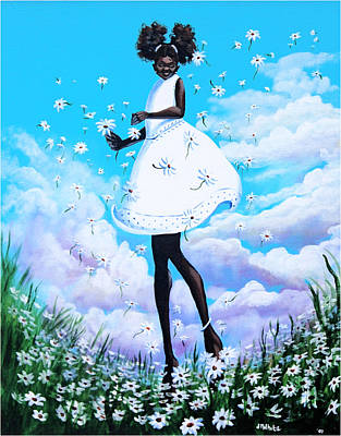 Painting - Dancing Among The Daisies by Jerome White
