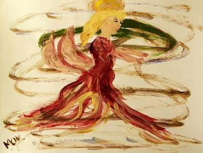 Dancing Angel Art Print by Mary Carol Williams